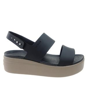 Sandały Crocs Brooklyn Low Wedge 206453 black/mushroom