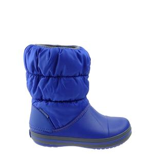 Śniegowce Crocs Winter Puff Boot Kids 14613-4BH cerulean blue/light grey