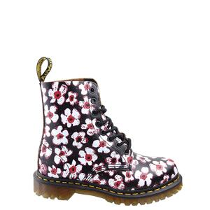 Dr. Martens 1460 Pascal Black+Red 26456002 Pansy Fayre