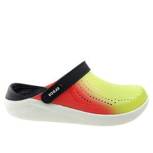 Klapki Crocs Literide Color Dip Clog 206597-3T9 lime punch/scarlet/almost white