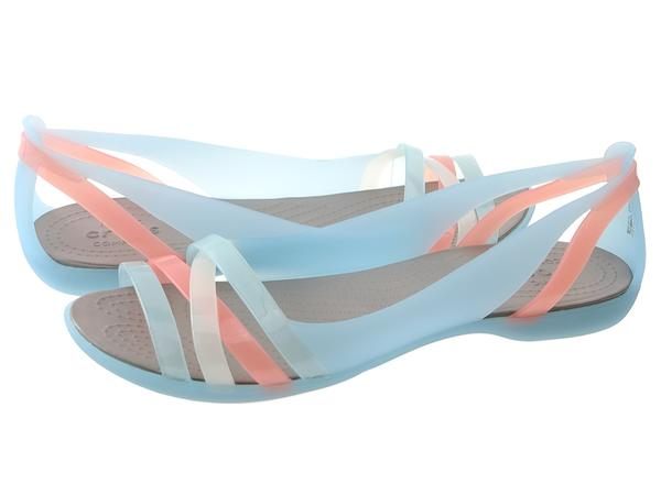 ed5757a91826 Buty na lato damskie Crocs Sandały Crocs Isabella huarache 2 flat w 204912- 4CW ice blue