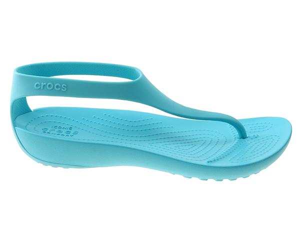 fc2d89c86da75 Buty na lato damskie Crocs Japonki Crocs Serena Flip W 205468 turkusowy.  Kliknij ...