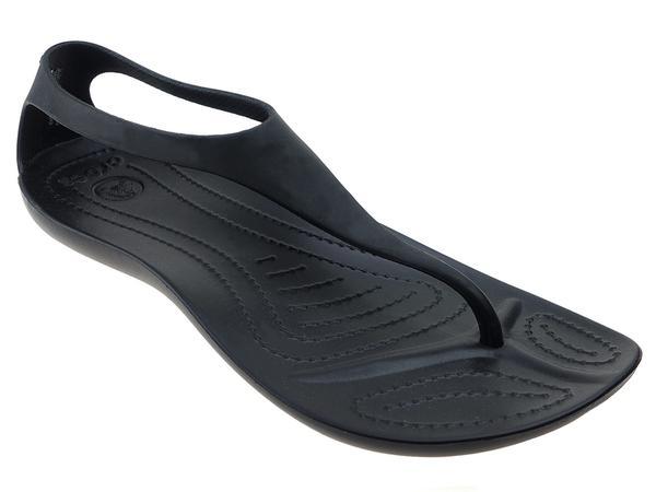 nowe style kup najlepiej wyprzedaż w sprzedaży Buty na lato damskie Japonki Crocs Sexi Flip W 11354 czarny ...