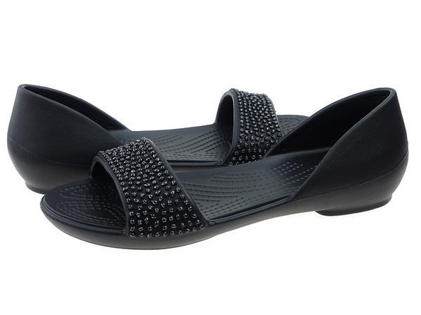 Buty na lato damskie Crocs Sandały Crocs Lina Embellished Dorsay 204361-060  czarny 6db996cdcaf