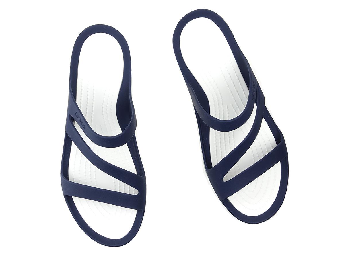 Klapki Crocs Swiftwater Sandal W 203998 462 navywhite